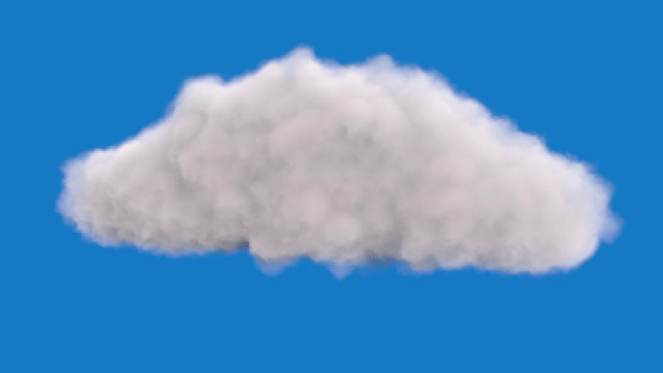 Realistic Cloud Free 3D Model MAX OBJ BLEND MTL