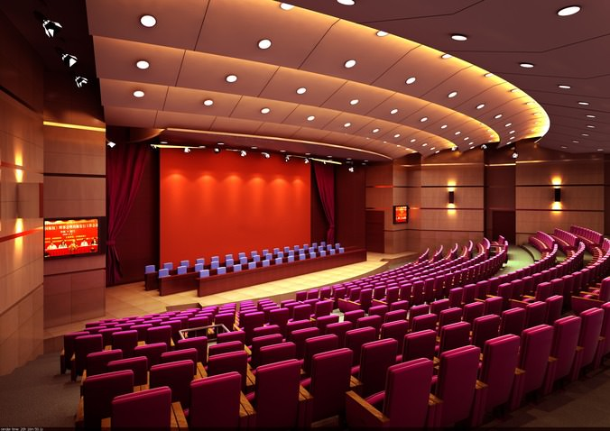 Grand Conference Hall 3D  CGTrader