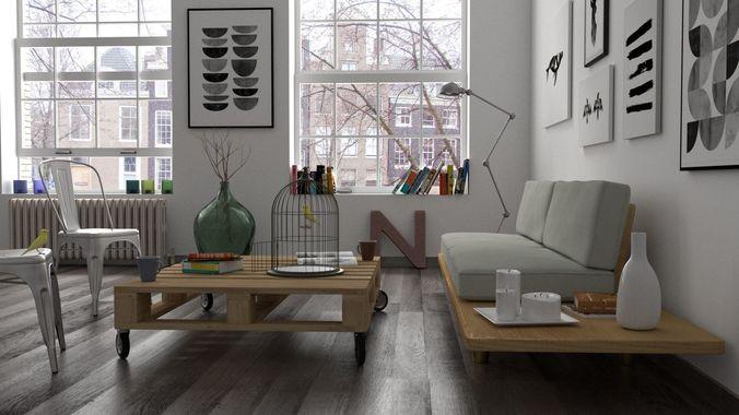3D Interior scene  CGTrader
