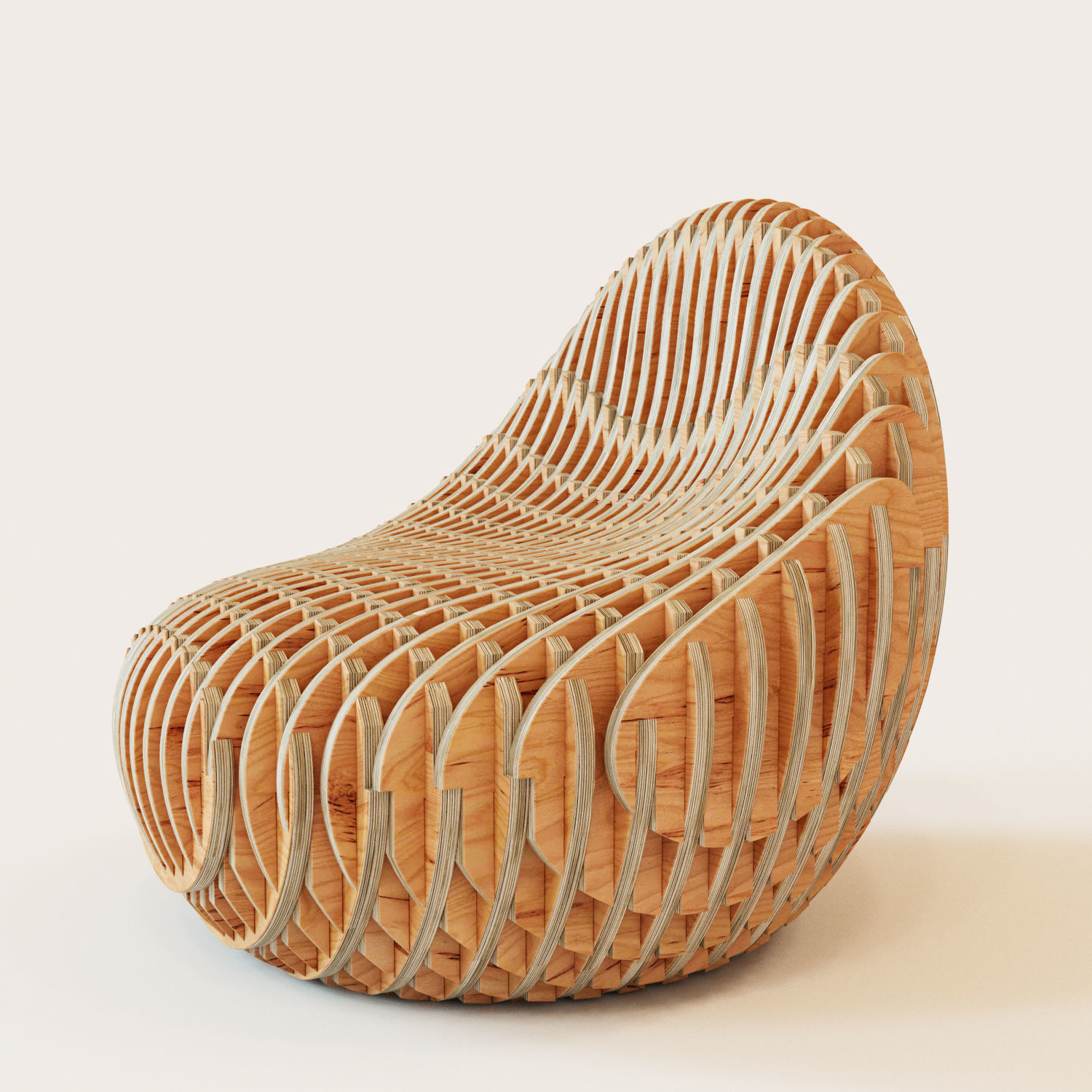 Bounce Chair Parametric Armchair Bounce 3d Model