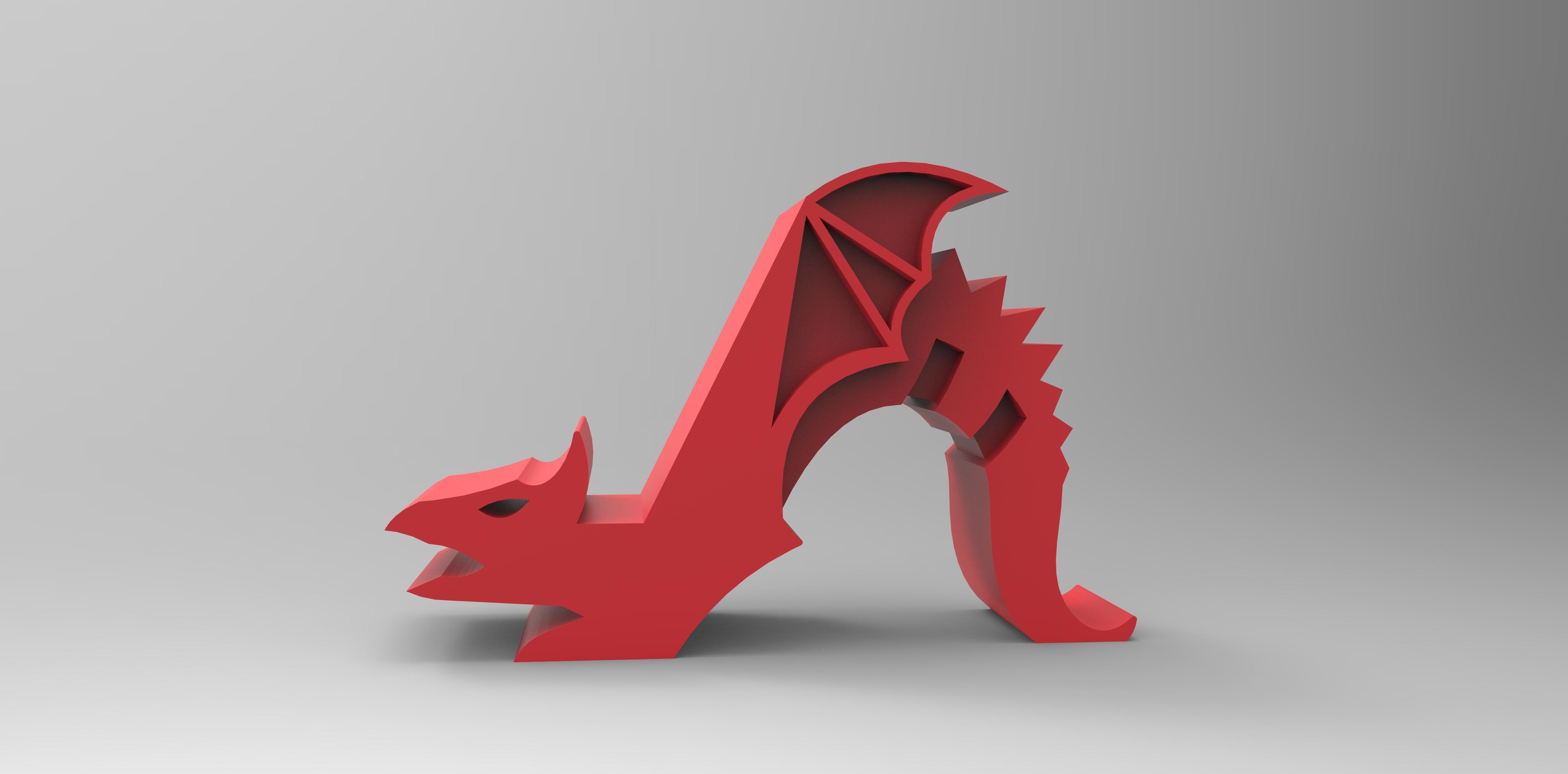 Dragon Phone holder 3D Model 3D printable STL  CGTradercom