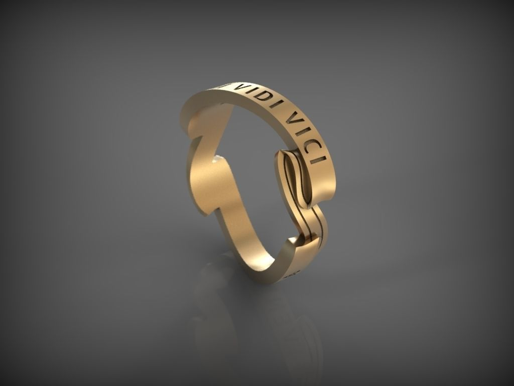 Ring VENI VIDI VICI 3D Model 3D printable STL  CGTradercom