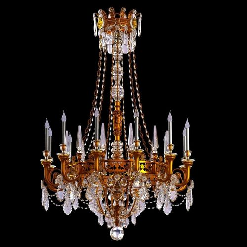 Antique Classic Chandelier In Brass Finish Model