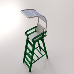Tennis Umpire Chair Hire Velvet Tufted Dining Chairs 3d Model Cgtrader Obj Mtl 3ds Fbx Blend Dae 2