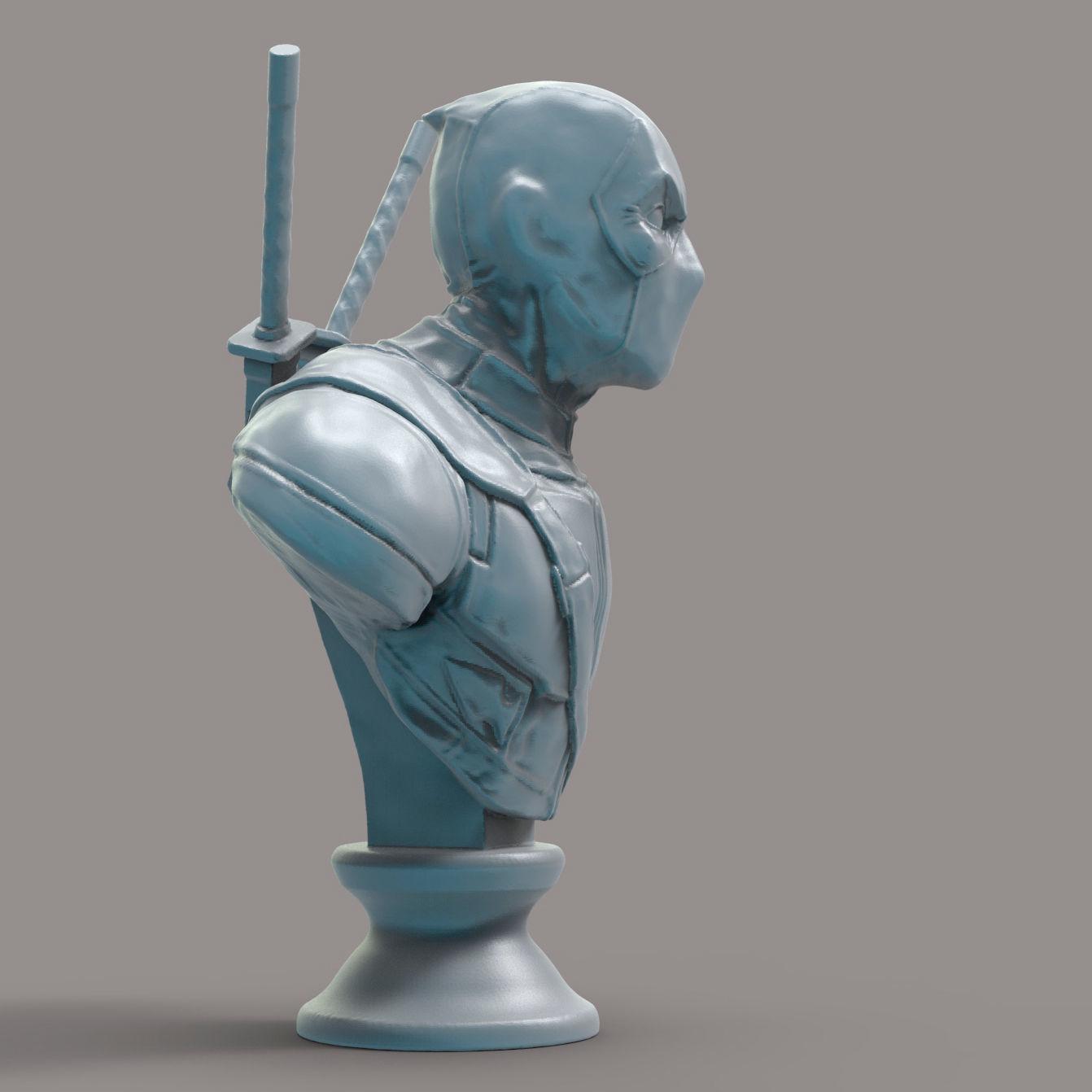 Deadpool 3d Model 3d Printable Max Obj Fbx Ma Mb Stl Ztl