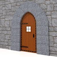 Medieval Door & Wooden Door Medieval Retro Background