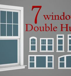 double hung windows wood collection 3d model [ 1920 x 1440 Pixel ]