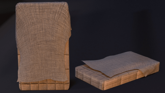 Old Bed Mattress 3D  CGTrader