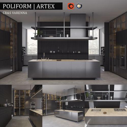 Kitchen Varenna Artex 3D model  CGTrader