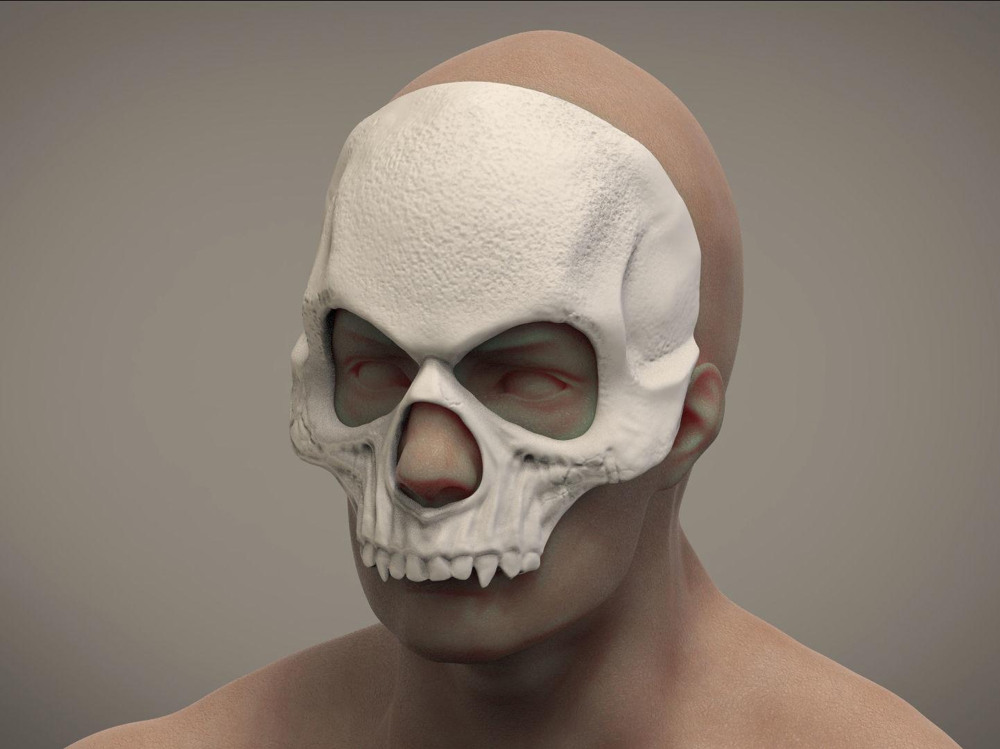 3d Printable Model Halloween Mask Skull Mask Masquerade