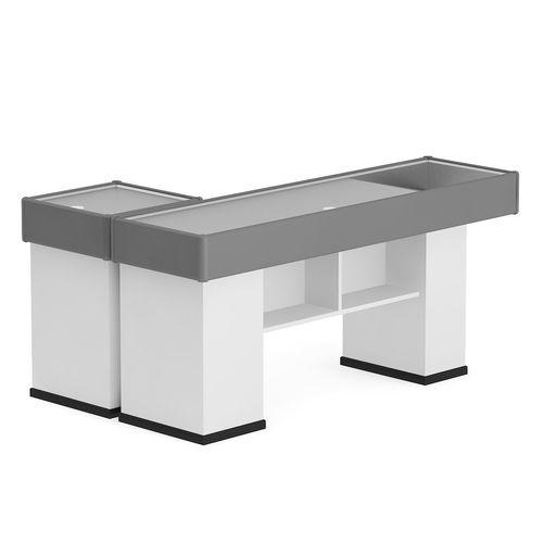 3D model Grey Cashier Desk  CGTrader
