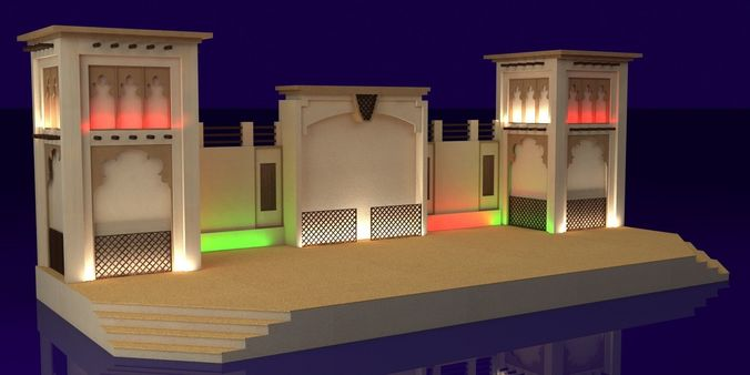 Event Stage 3D Model CGTrader