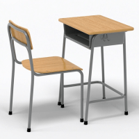 School Desk and Chair 3D model | CGTrader