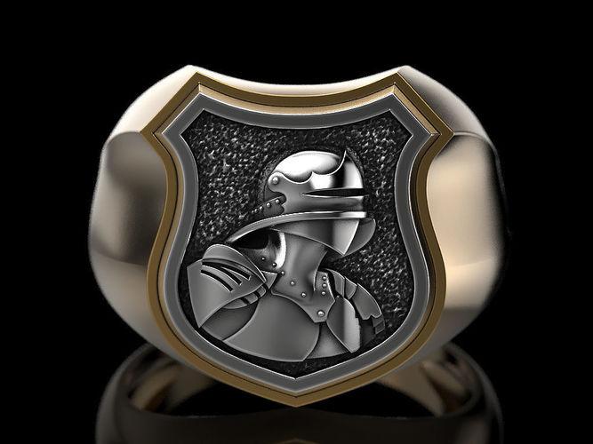 3D printable model Medieval Shield Ring  CGTrader