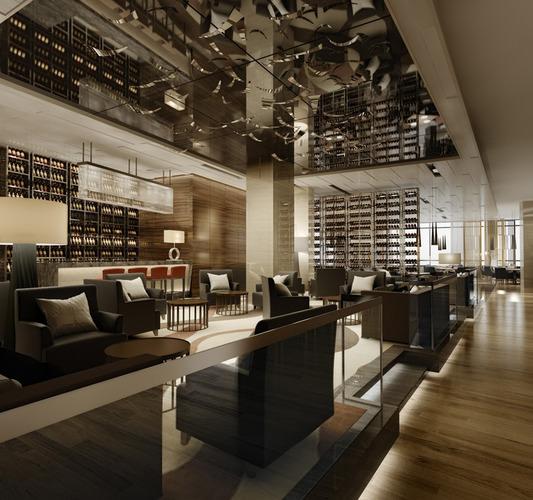 Highend Restaurant with Classy Ceiling Decor 3D model MAX FBX