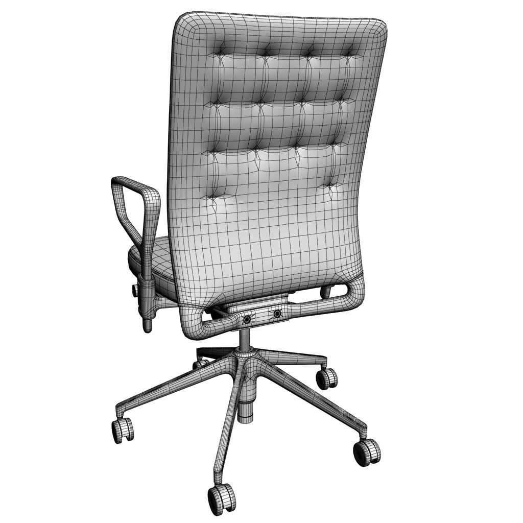 office chair 3d model large size chairs 8 max obj mtl cgtrader