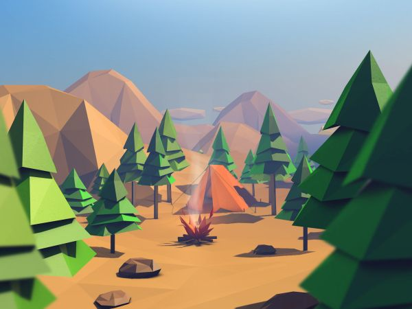 Forest Assets Poly Free Vr Ar Poly 3d Model - Year of Clean