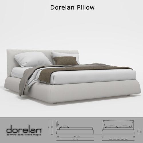 dorelan pillow bed 3d cgtrader