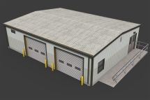 Small Warehouse 3d Asset Realtime Cgtrader