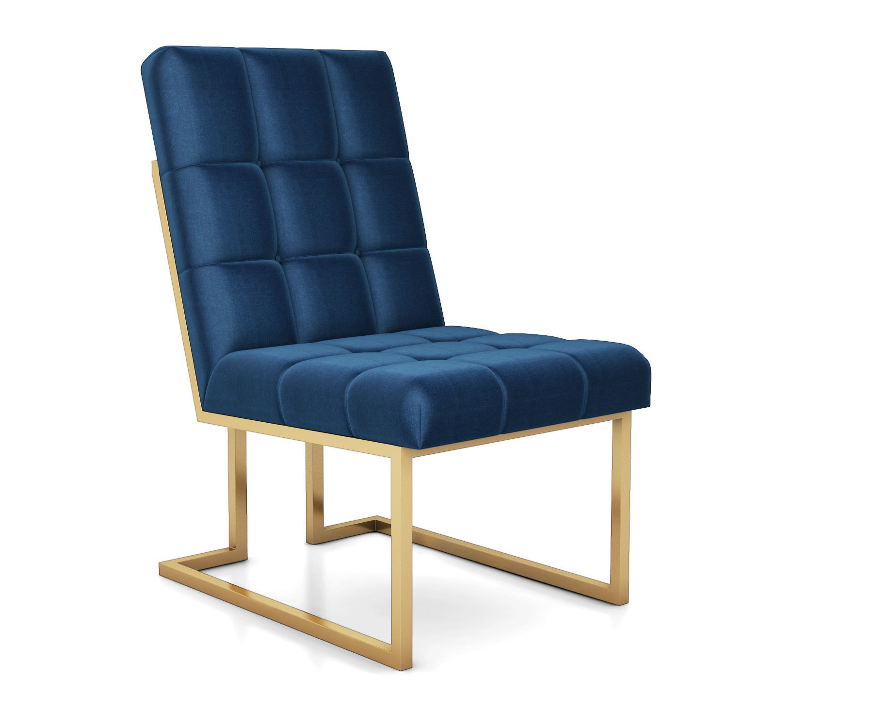hight resolution of goldfinger navy dining chair by jonathan adler 3d model