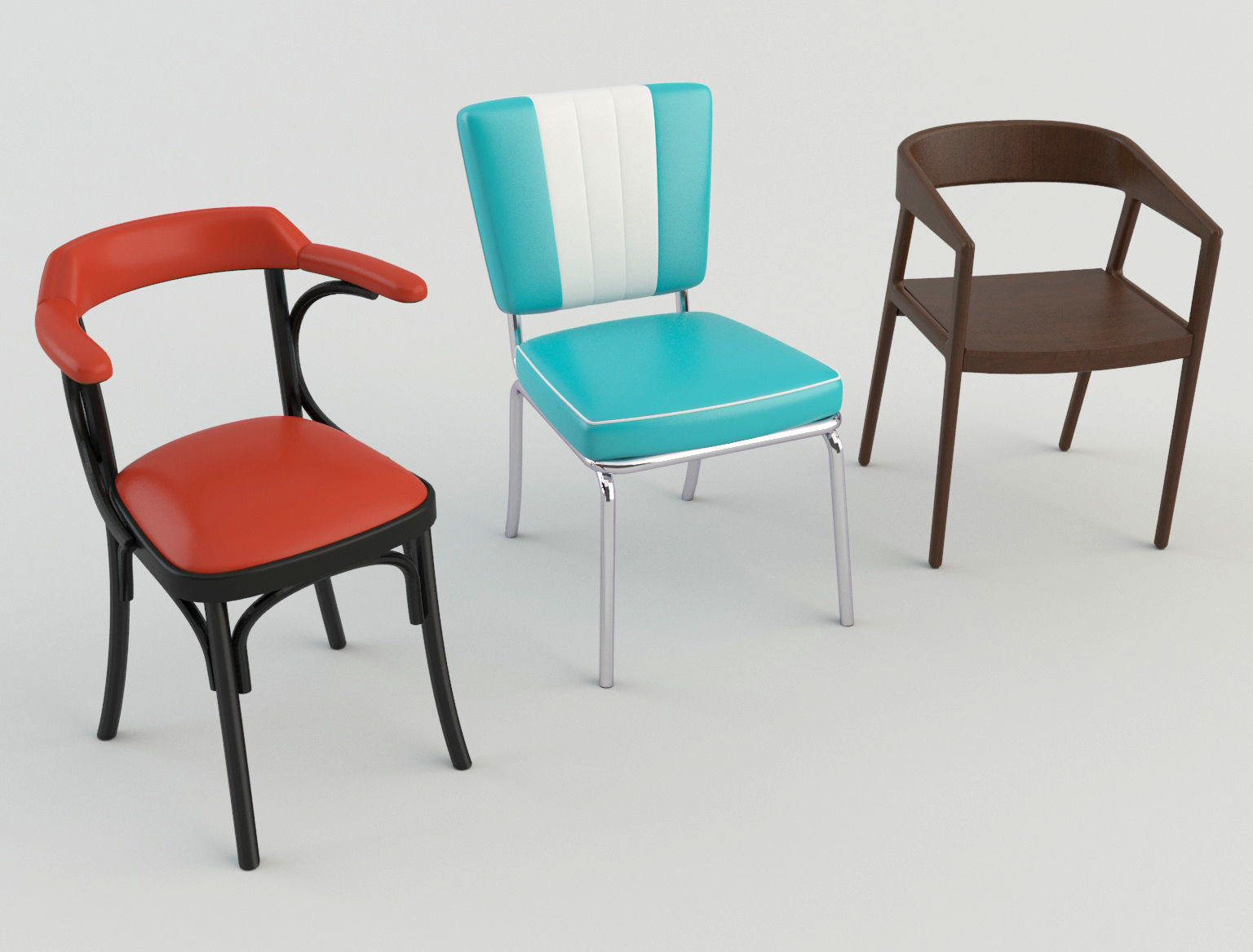 Cafeteria Chairs Bar Cafeteria Restaurant Chairs 3 3d Model
