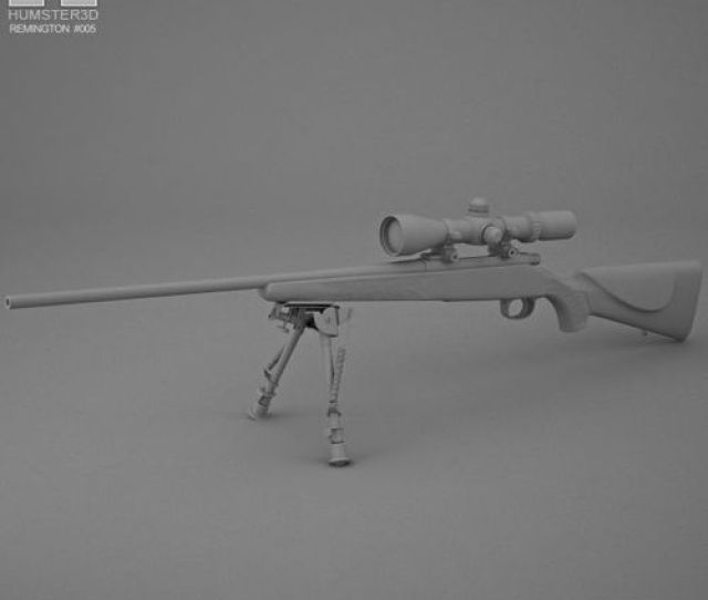 Remington Model 700 3d Model Max Obj Mtl 3ds Fbx C4d Lwo Lw Lws 12