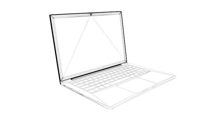 Macbook pro retina 13 inch 3D Model animated OBJ 3DS C4D