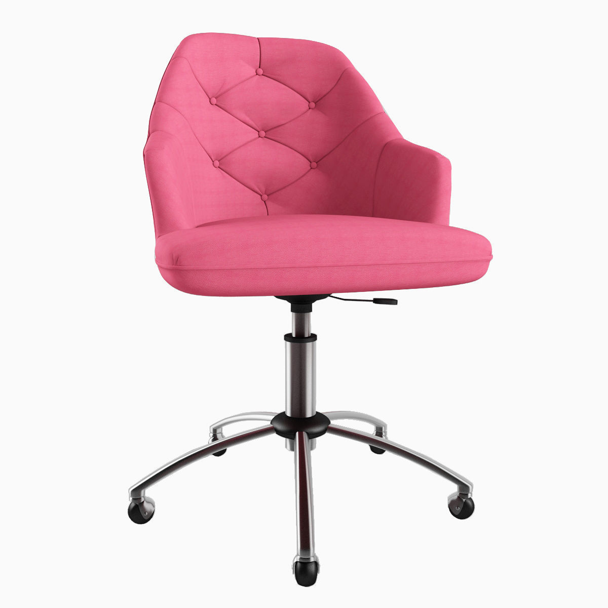 tufted desk chair stool with footrest 3d print model cgtrader max obj mtl fbx 1