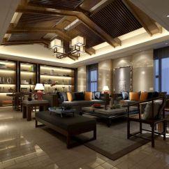 Chinese Living Room Microfiber Sectional Sets 3d Model Restaurant Design Cgtrader