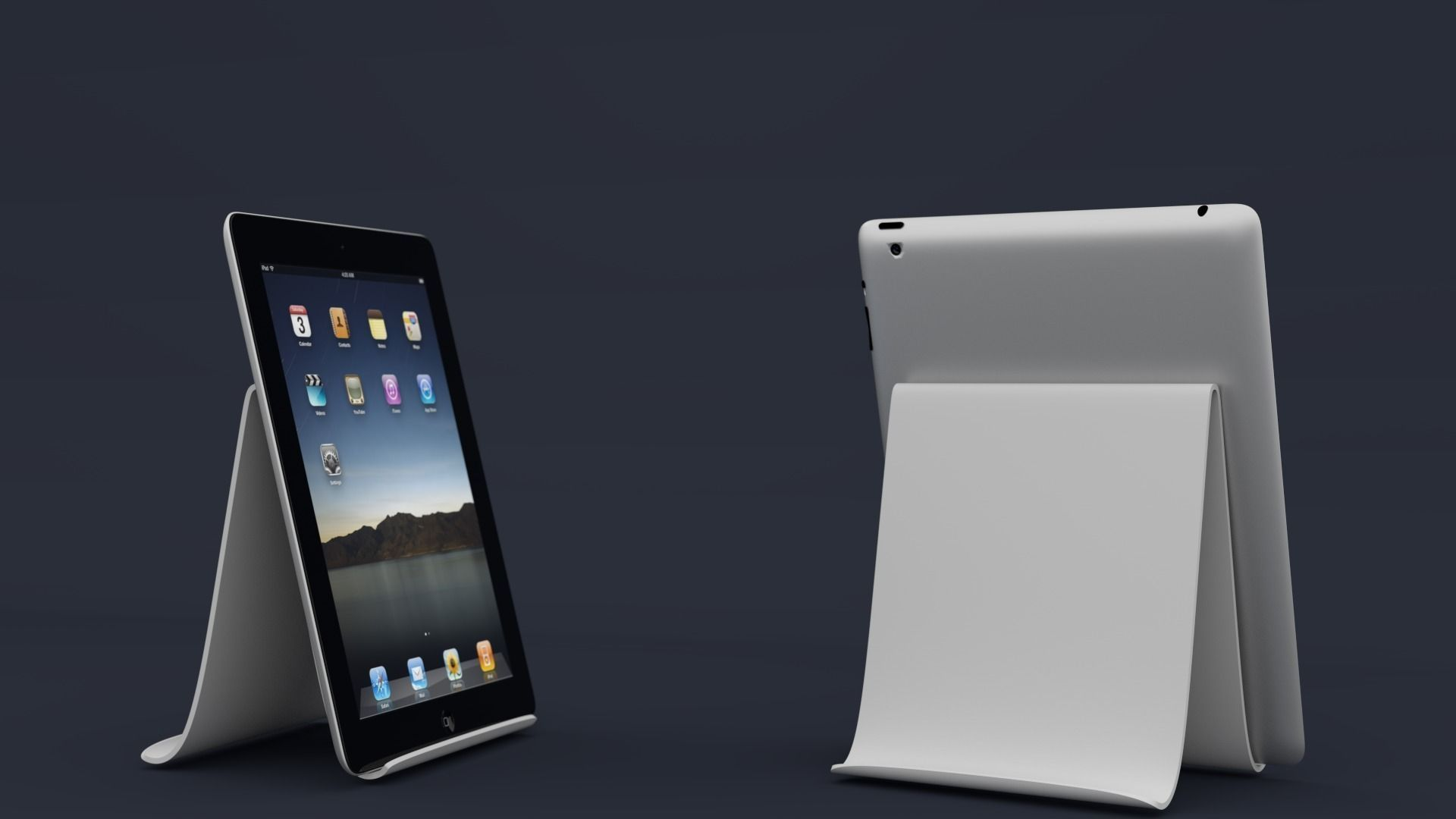 3D Printable Model Tablet Stand CGTrader