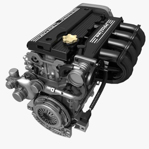 small resolution of car 4 cylinder engine 02 3d model