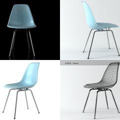 Eames Bucket Chair Folding Nairobi 3d Plastic Dsx Cgtrader Model Max Obj Mtl Fbx C4d Dwg Skp 2
