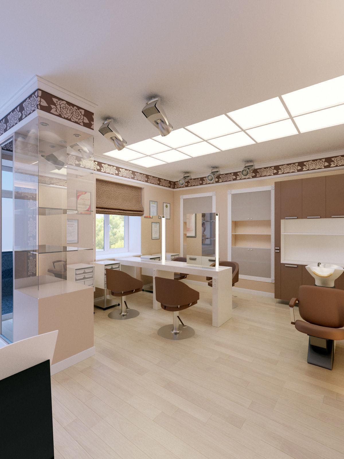 Hair and Beauty salon interior 3D model   CGTrader