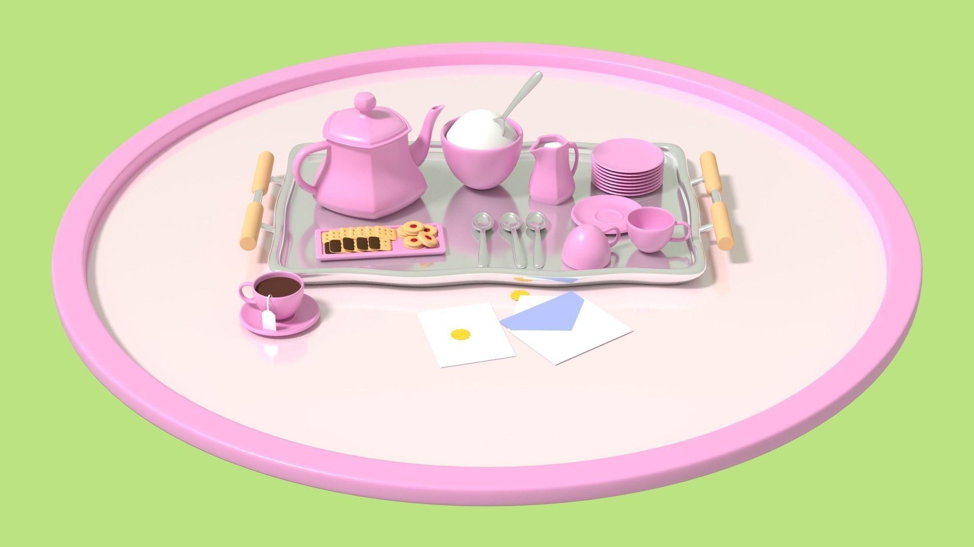 cute tea party set