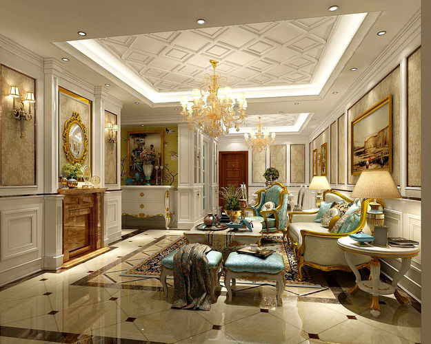 classic living room designs modern leather furniture sets interior european-style design 3d   cgtrader