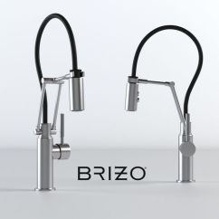 Articulating Kitchen Faucet Track Lighting For Island 3d Brizo Solna Cgtrader Model Max Fbx 1