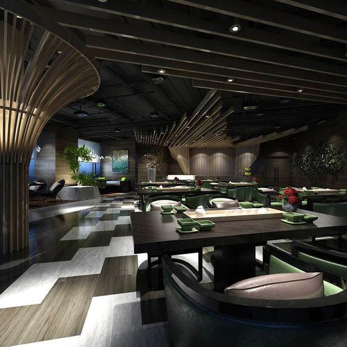 Hotel Luxury Restaurant 04 3d Model  Cgtrader