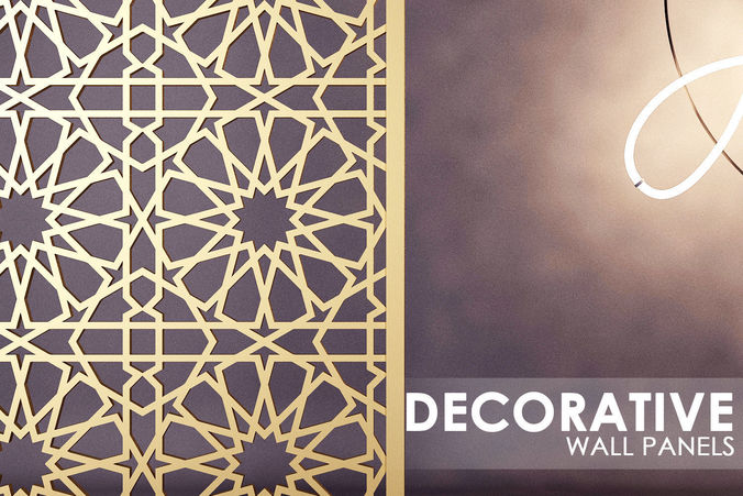 3D ISLAMIC PATTERN WALL PANEL CGTrader