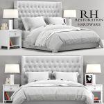 Rh Teen Zadie Tufted Bed 3d Cgtrader