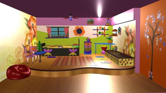 Game Ready 3D Cartoon Background Design CGTrader