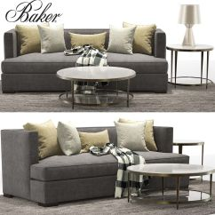 Baker Furniture Max Sofa Gray Leather Sofas And Sectionals Barbara Barry Thacher Sectional