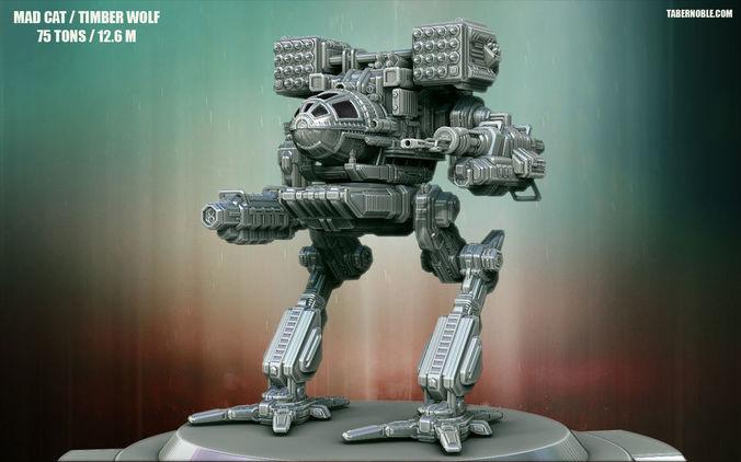 high poly mechwarrior 3d