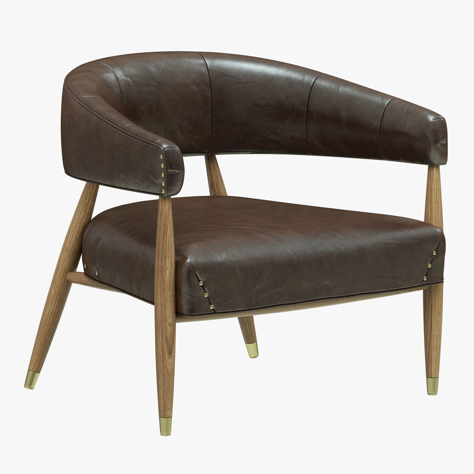 Restoration Hardware Leather Chairs Restoration Hardware Jensen Chair 3d Model