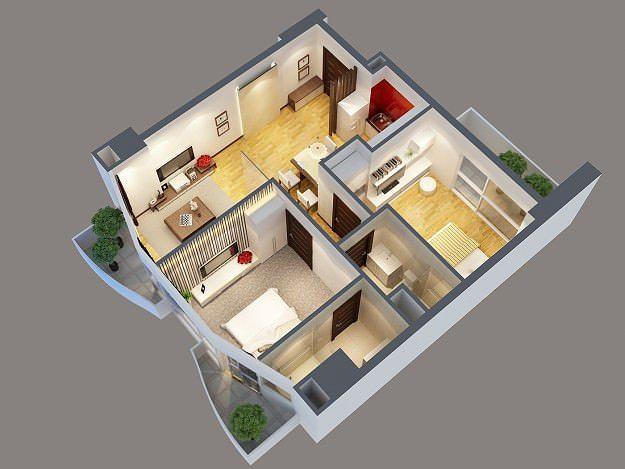 Teen Bedroom Diagram 3d Model Modern Interior Apartment Cgtrader