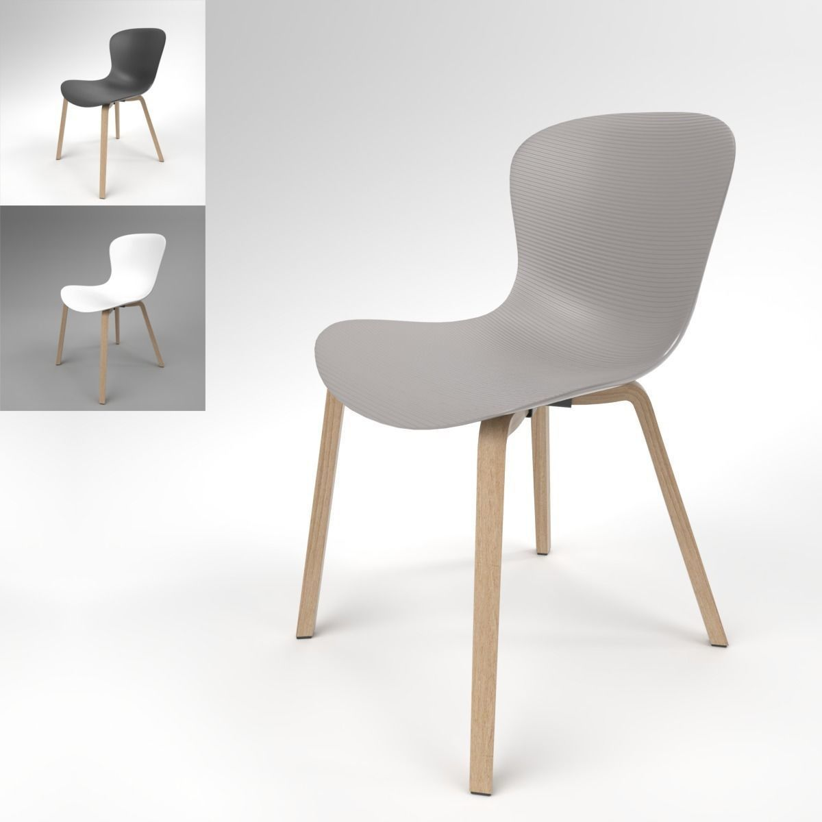 Fritz Hansen Chairs Fritz Hansen Nap Ks52 Chair Blender Cycles 3d Model