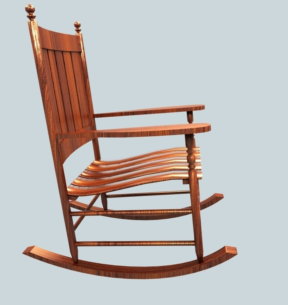 Wooden Rocking Chair free VR  AR  lowpoly 3D Model