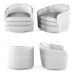 Swivel Tub Chairs Chair Cushion Covers With Zippers 3d Model Milo Baughman For Thayer Coggin Max Obj Mtl 3