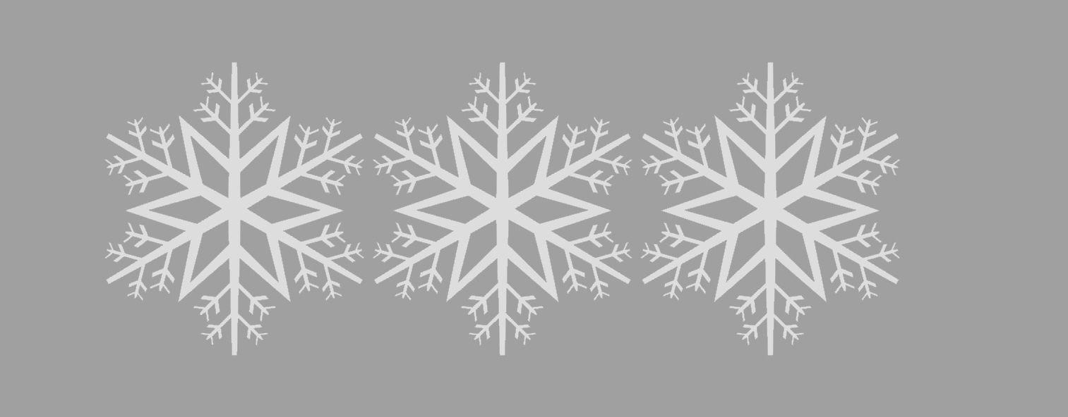 Three snowflake ornaments 3D Model 3D printable STL 3DM