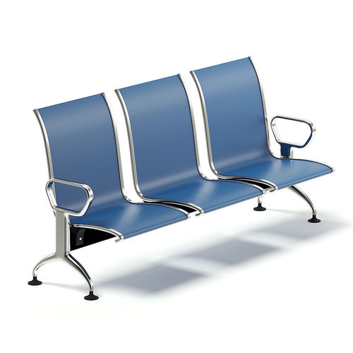 waiting chairs gravity chair target reception 3d model blue cgtrader max obj mtl fbx c4d uasset 1