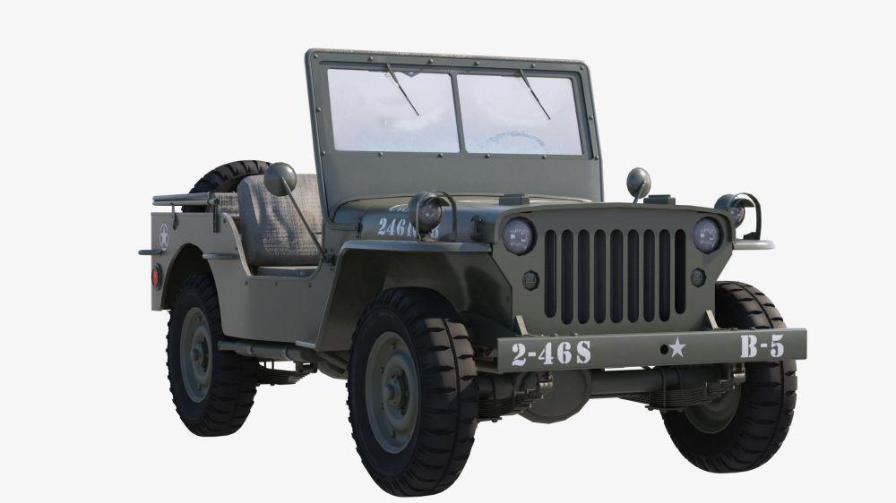 medium resolution of  military jeep car willys 3d model max obj mtl fbx tga